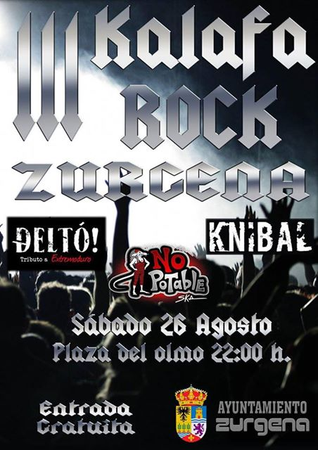 III Festival Kalafa Rock con 'No Potable', 'Deltó' y Knibal'